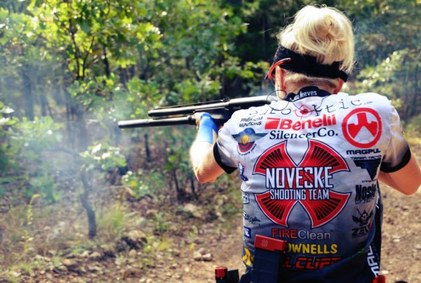 Janna Reeves with her Benelli - stage 4