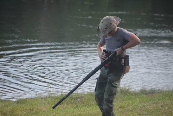 Lefty Luke Loading Shotgun